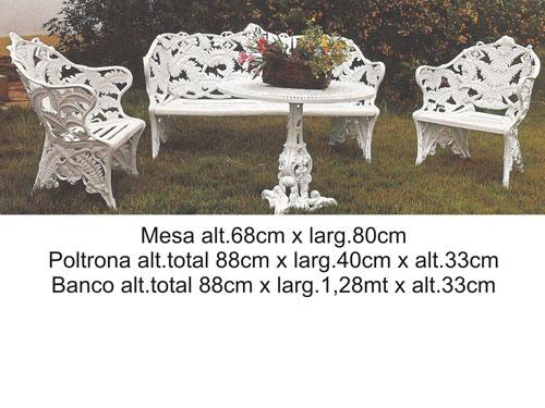 banco de jardim em ferro fundido : banco de jardim em ferro fundido:Conjunto De Jardim Em Ferro Fundido Com Mesa E 4 Cadeiras Pictures to